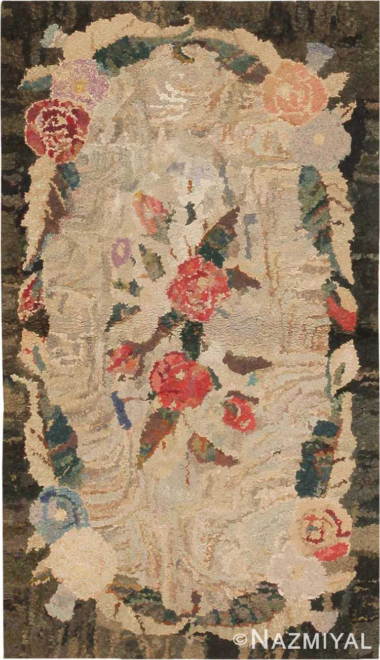 Antique Hooked American Rug #2555 by Nazmiyal Antique Rugs