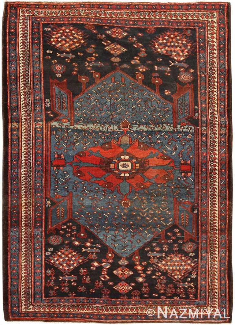 Small Antique Persian Malayer Rug 70658 by Nazmiyal NYC