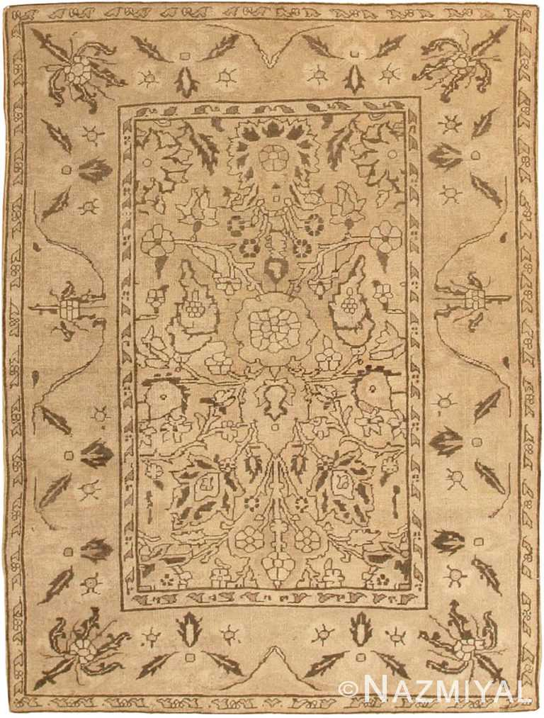 Antique Small Size Earth Tone Indian Amritsar Rug #41656 by Nazmiyal Antique Rugs