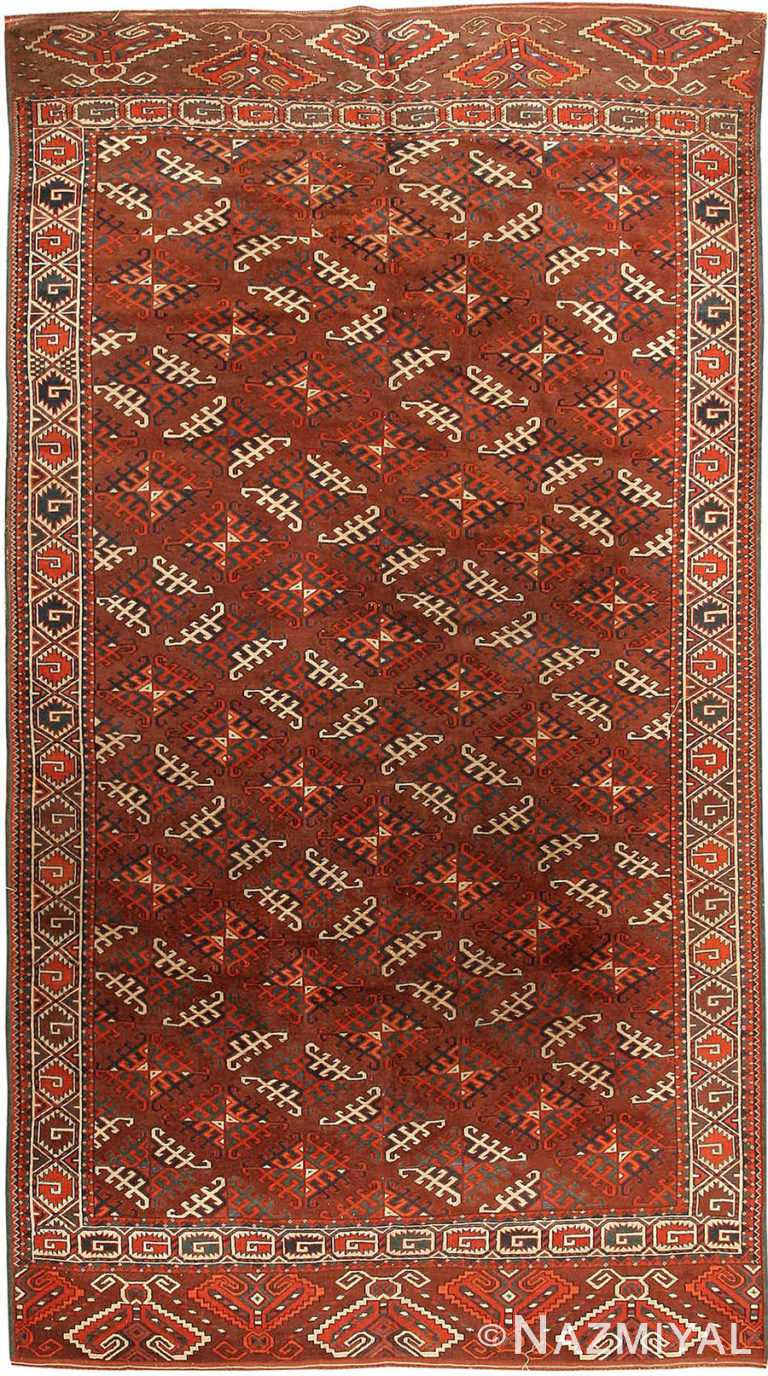 Antique Yomud Central Asian Rug #41882 by Nazmiyal Antique Rugs