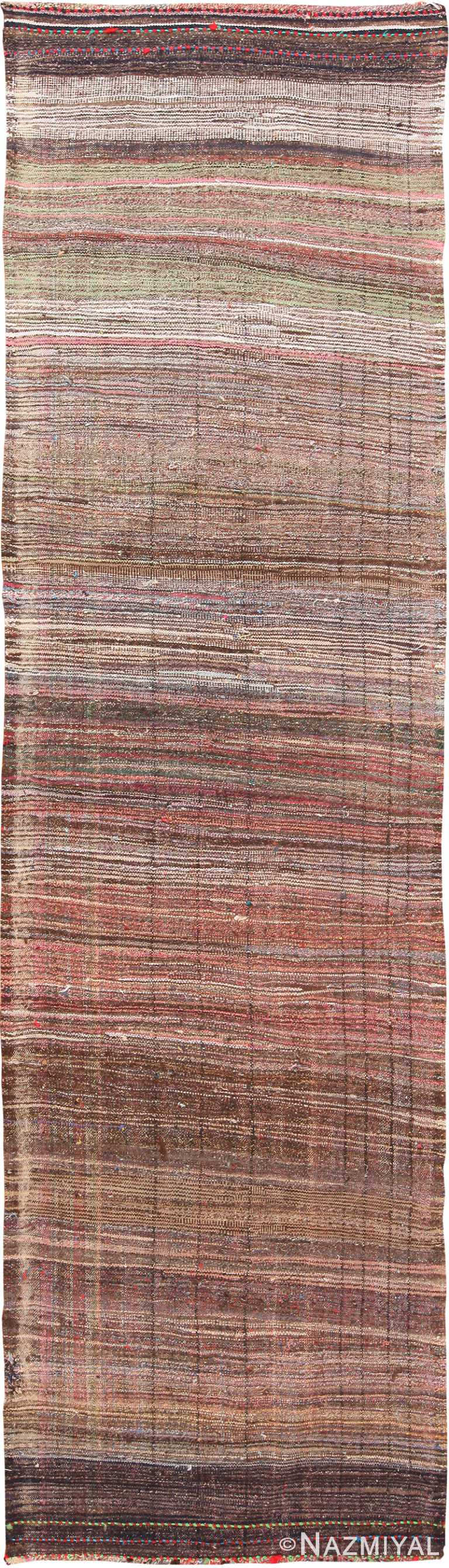 Brown Vintage Persian Kilim Runner Rug 60367 by Nazmiyal NYC