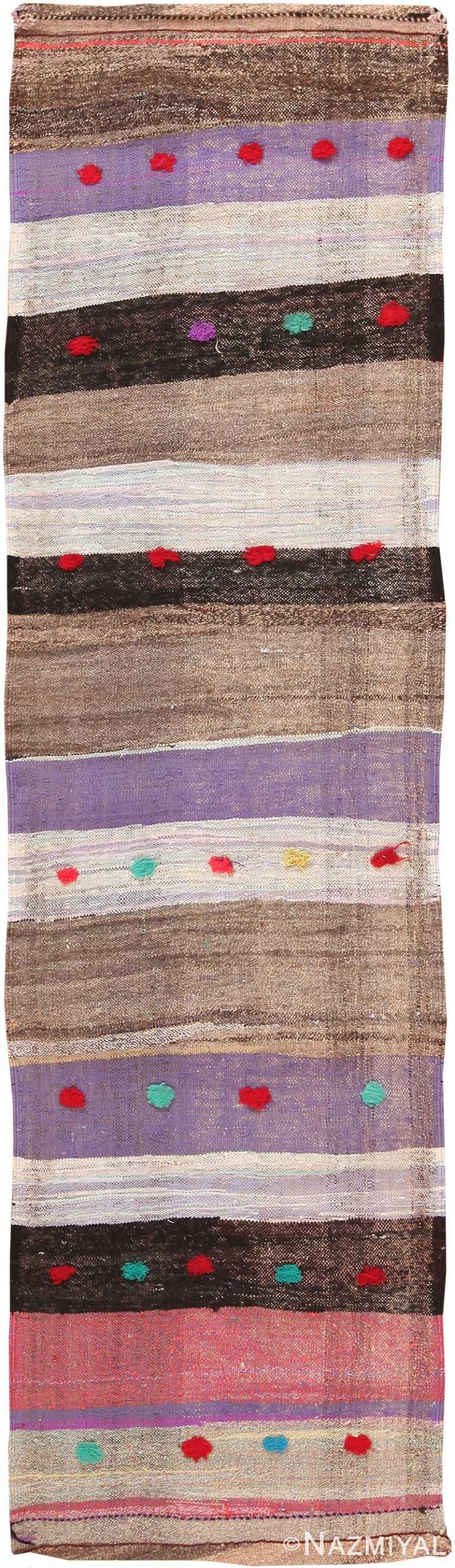 Colorful Vintage Persian Kilim Runner Rug 60369 by Nazmiyal NYC