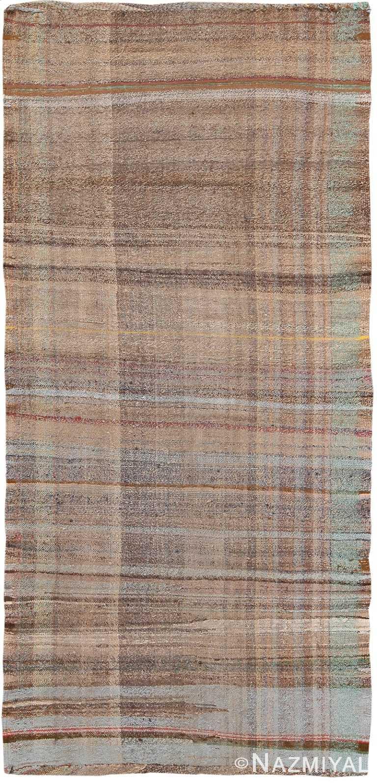 Earth Tone Vintage Persian Kilim Runner Rug 60362 by Nazmiyal NYC