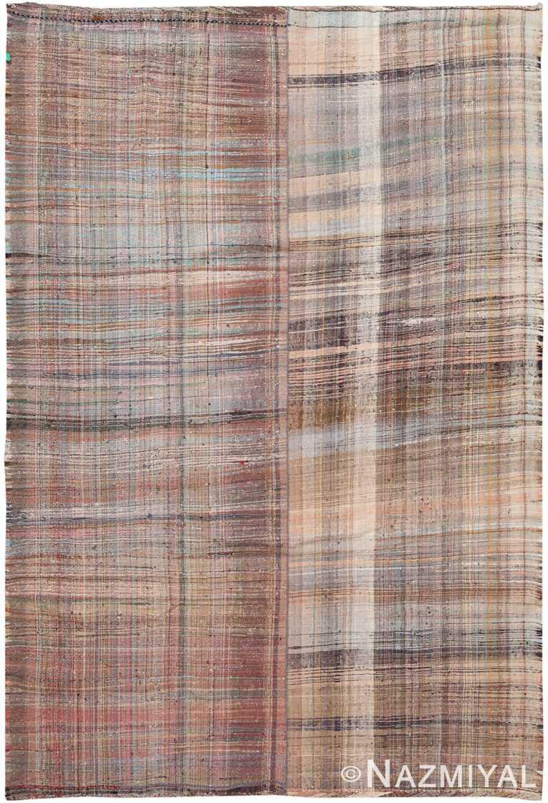 Earth Tone Vintage Persian Kilim Rug 60372 by Nazmiyal NYC