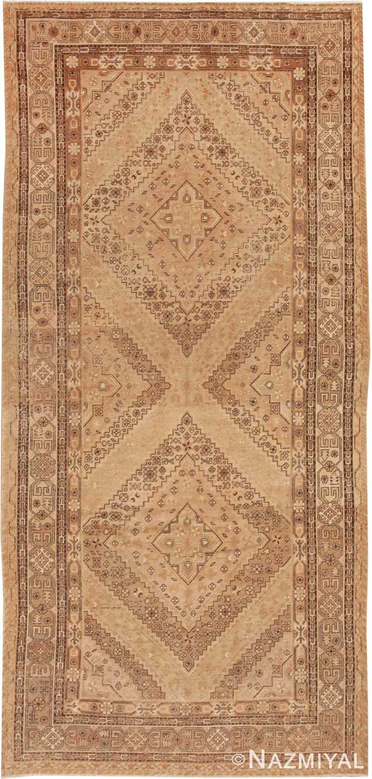 Neutral Earthtone Antique Khotan Rug #42383 by Nazmiyal Antique Rugs