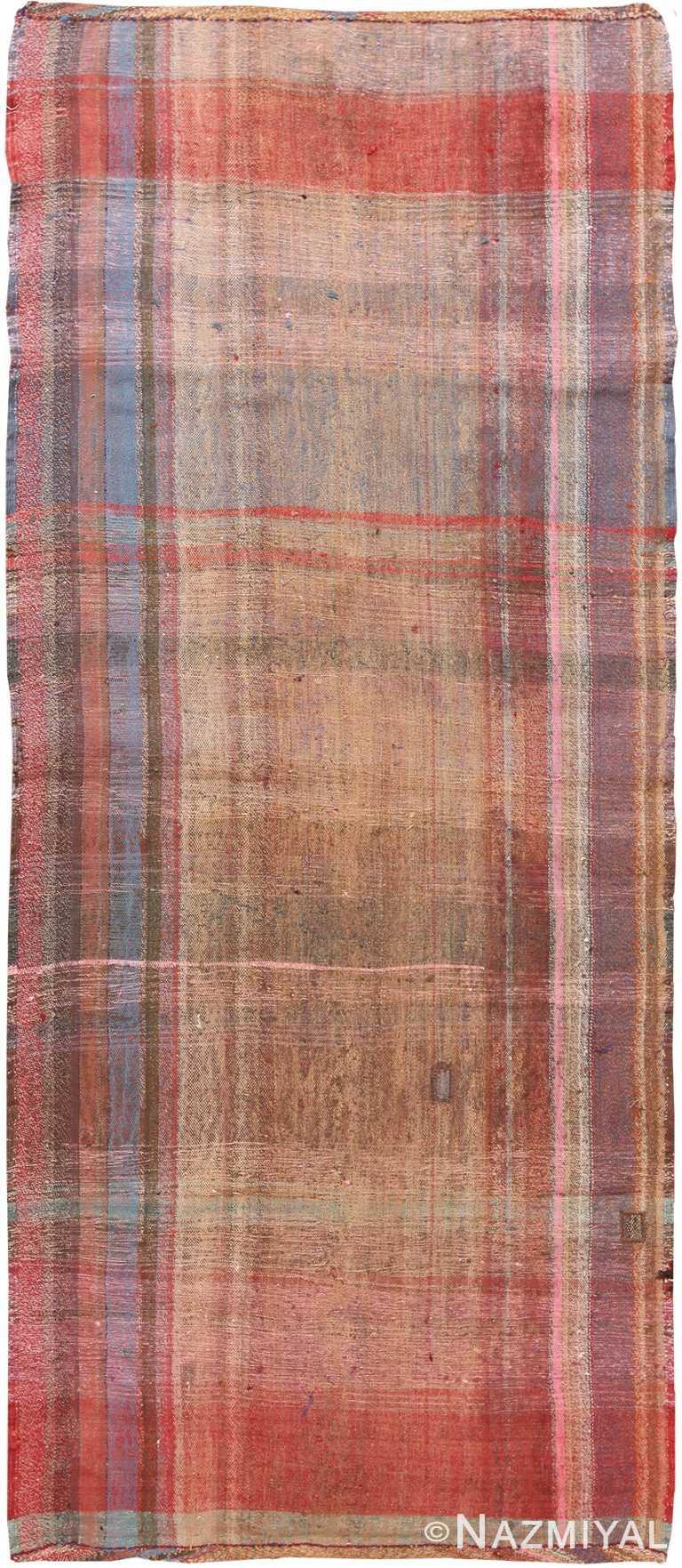 Red Rust Vintage Persian Kilim Runner Rug 60361 by Nazmiyal NYC