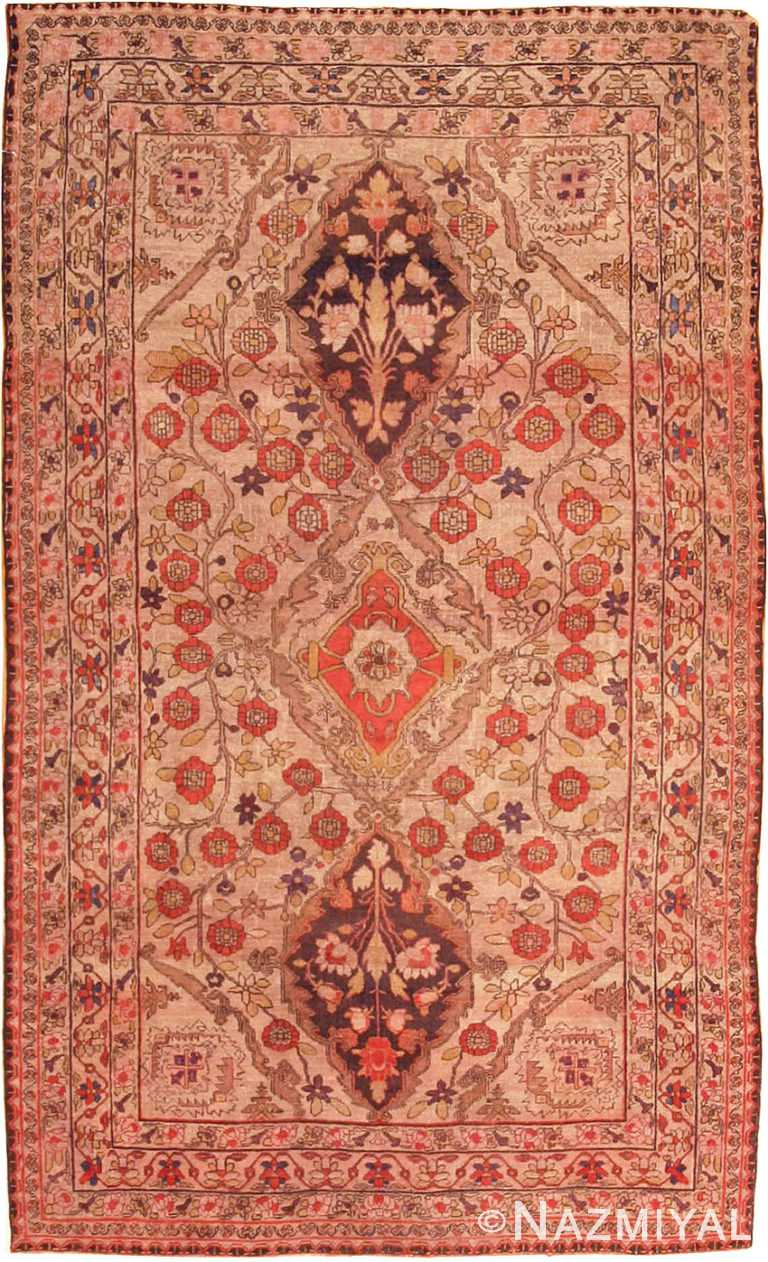 Small Scatter Size Antique Persian Kerman Lavar Rug #2197 by Nazmiyal Antique Rugs
