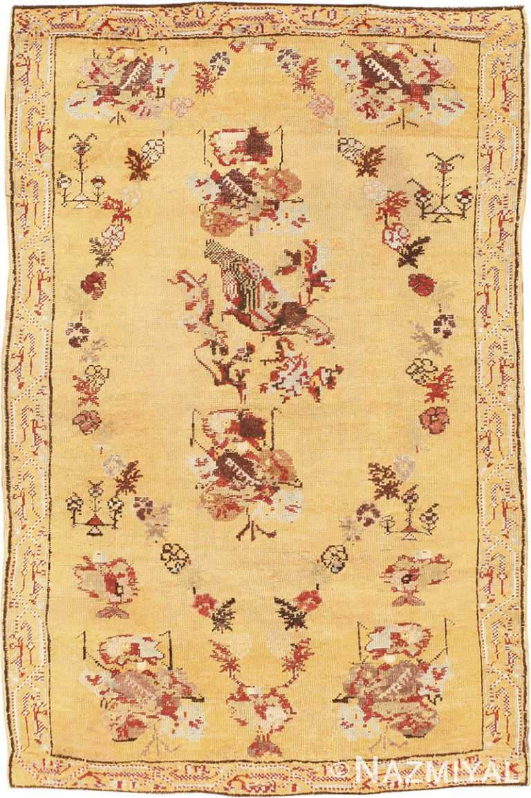 Small Scatter Size Antique Turkish Ghiordes Rug #40843 by Nazmiyal Antique Rugs