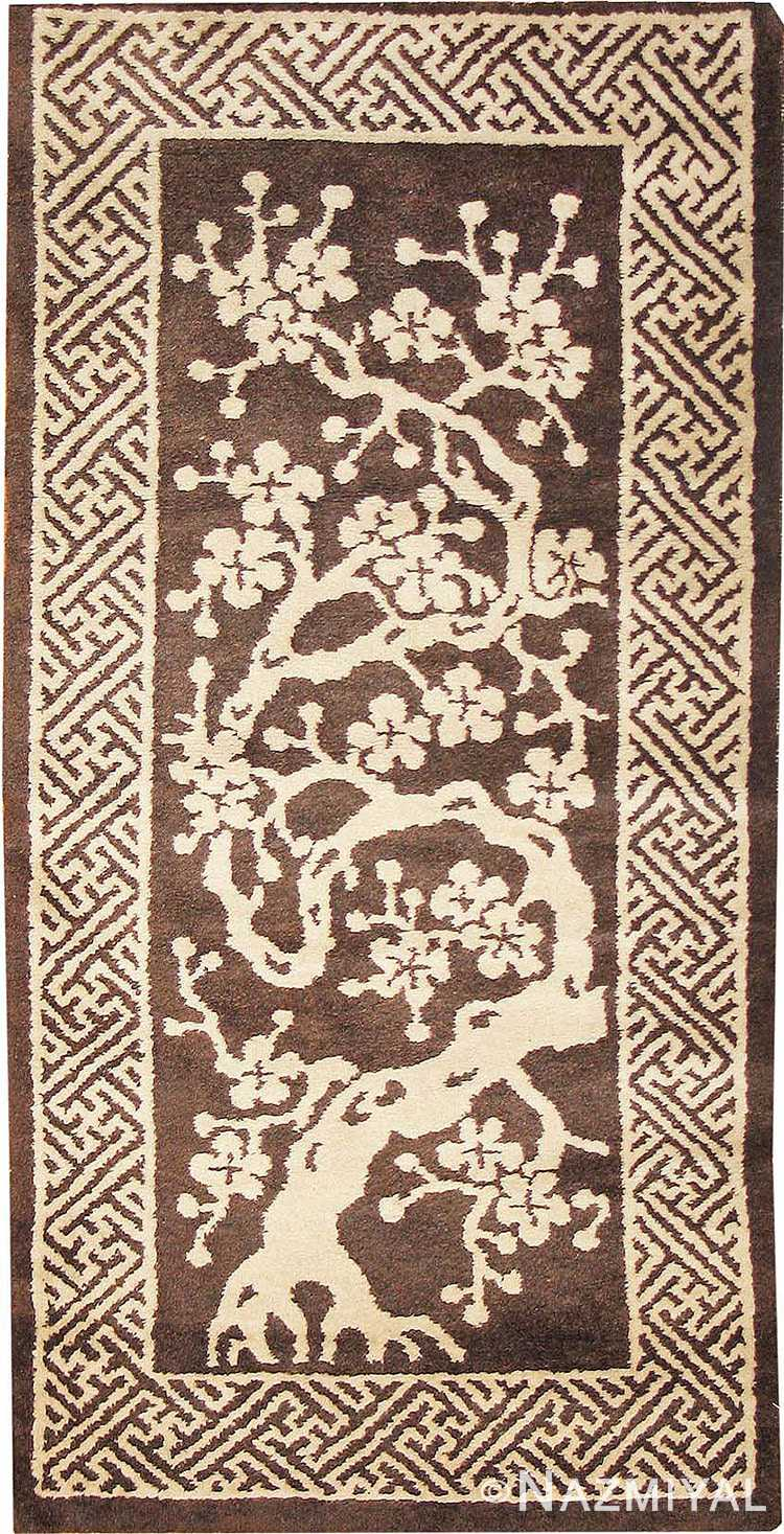 Small Scatter Size Brown Antique Peking Chinese Carpet #1620 by Nazmiyal Antique Rugs