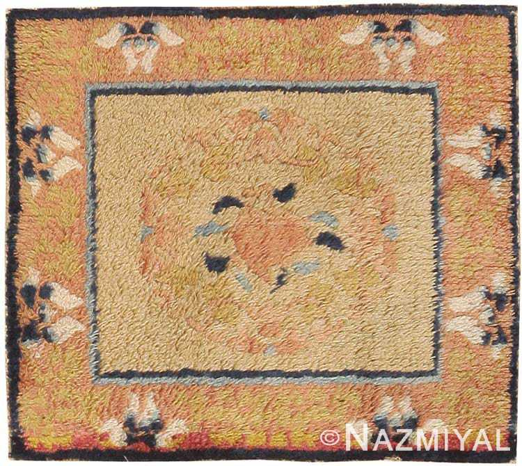 Small Square Scatter Size Antique Chinese Rug #44845 by Nazmiyal Antique Rugs