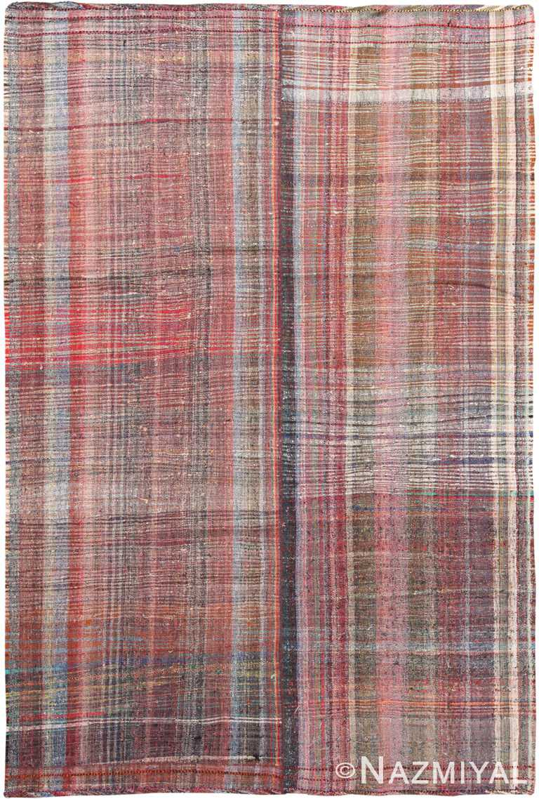 Striped Vintage Persian Kilim Rug 60371 by Nazmiyal NYC