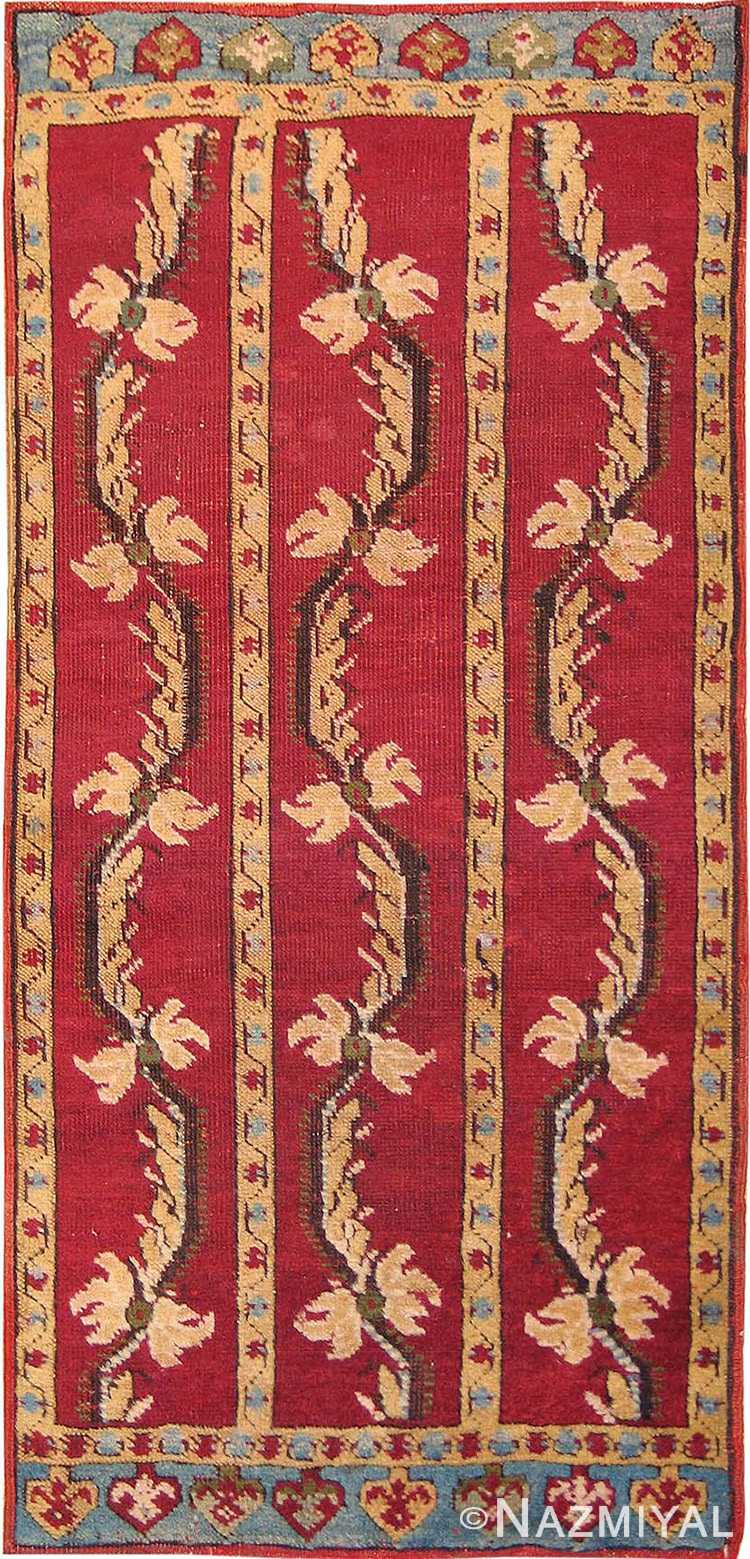 Tribal Antique Turkish Yastik Rug #2654 by Nazmiyal Antique Rugs