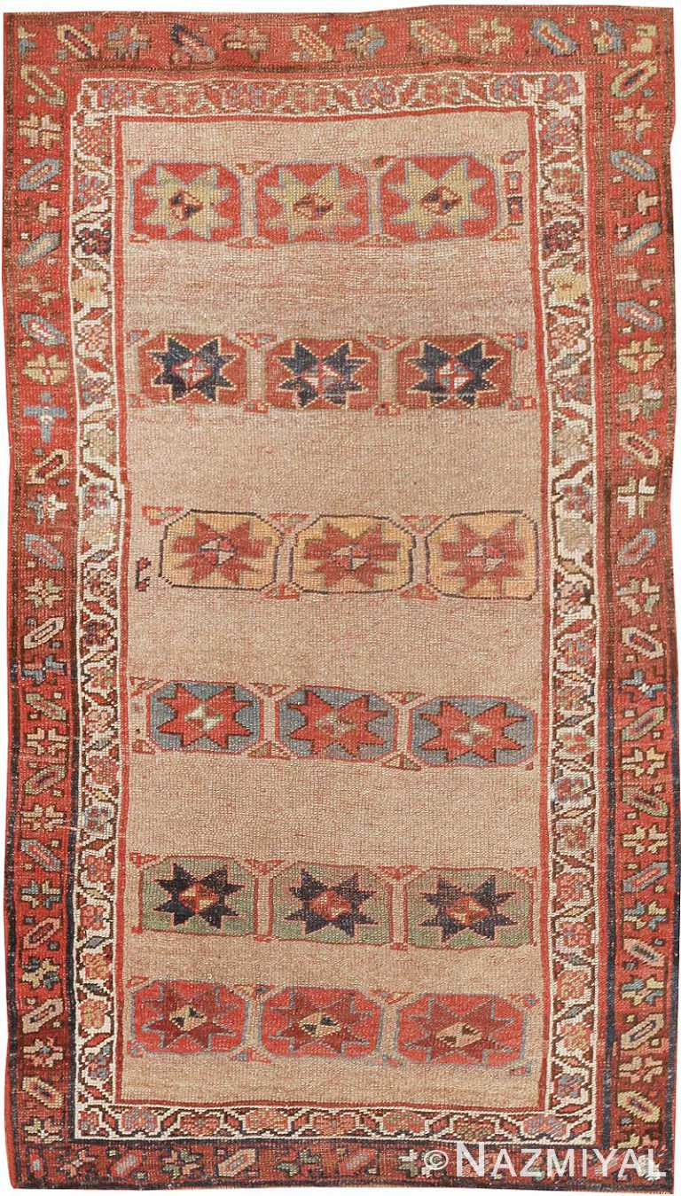 Tribal Small Scatter Size Antique Persian Kurdish Rug #44932 by Nazmiyal Antique Rugs
