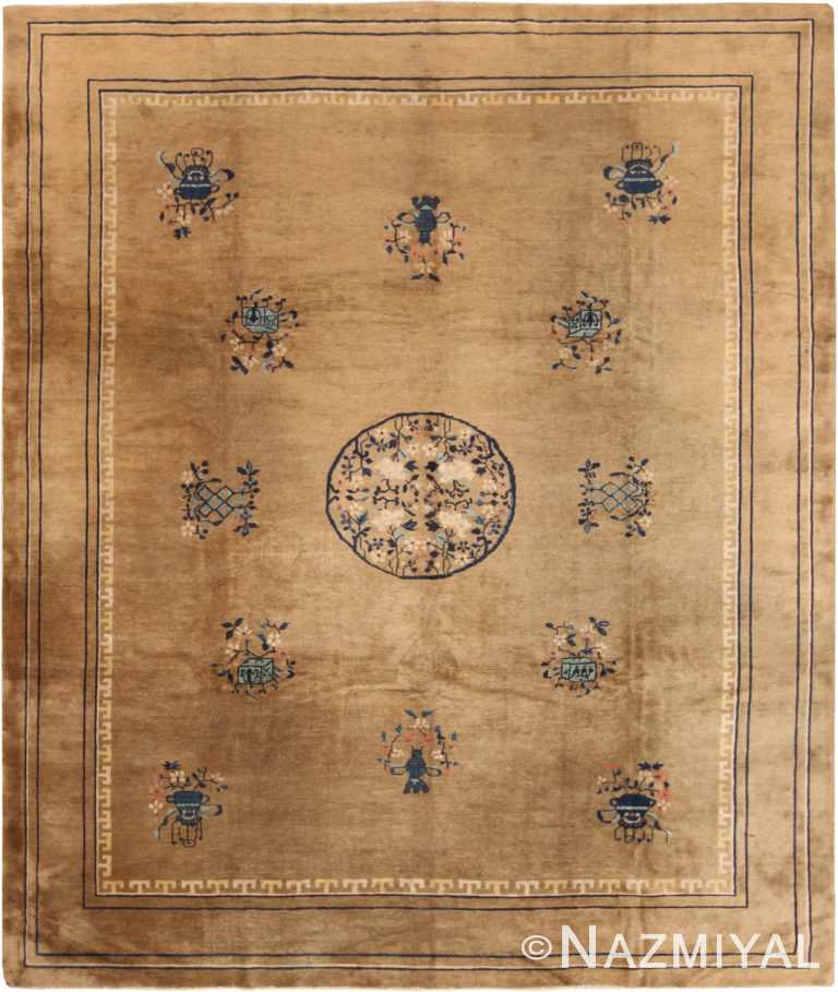 Decorative Light Green Antique Chinese Carpet 50096 by Nazmiyal NYC