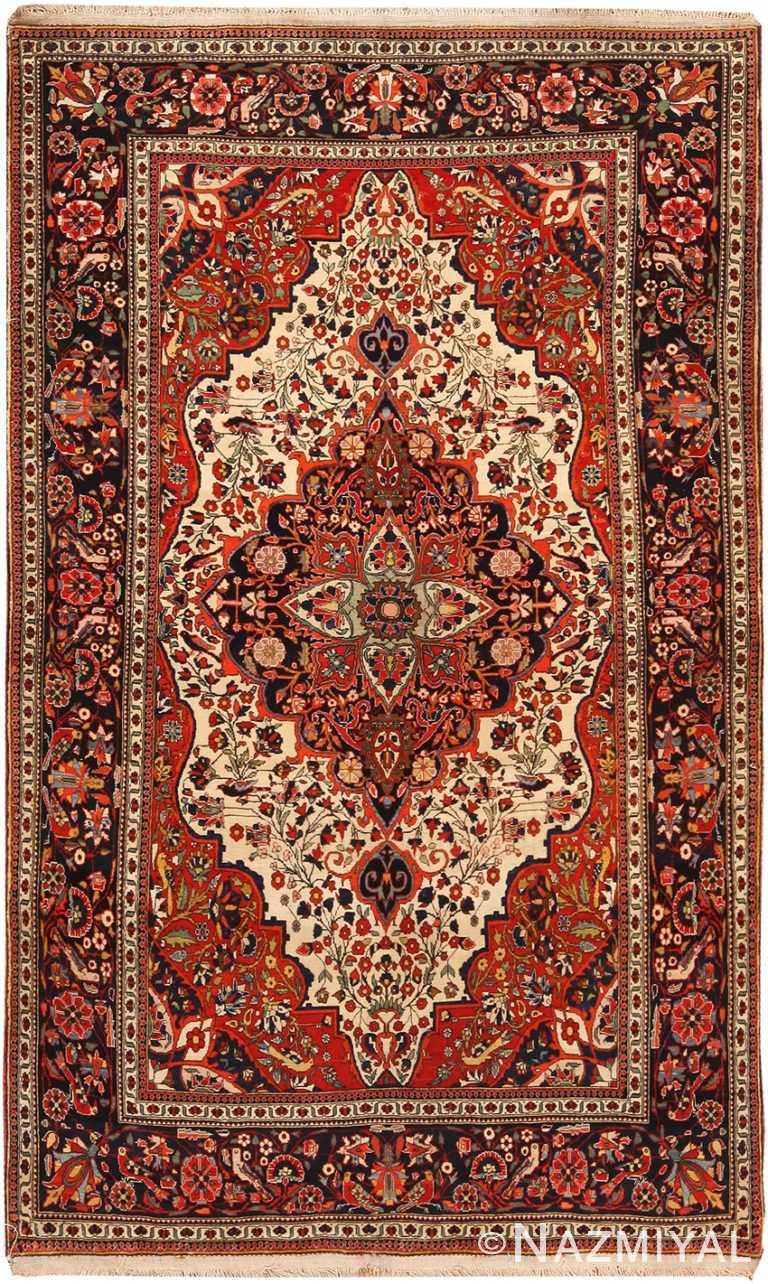 Antique Persian Mohtashem Kashan Rug 70765 by Nazmiyal NYC