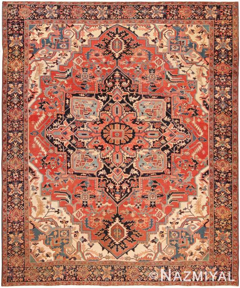 Antique Persian Serapi Area Rug 70656 by Nazmiyal NYC