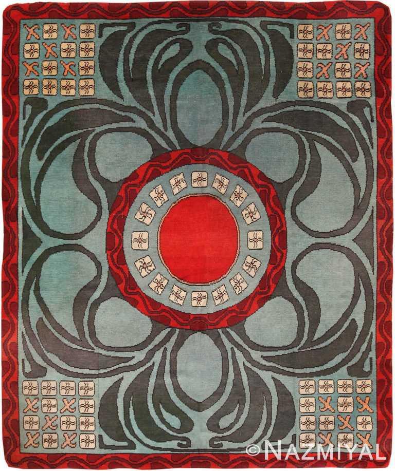 Geometric Antique French Art Deco Rug 70735 by Nazmiyal NYC