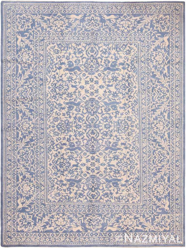 Decorative Modern Indian Agra Cotton Rug 60486 by Nazmiyal NYC