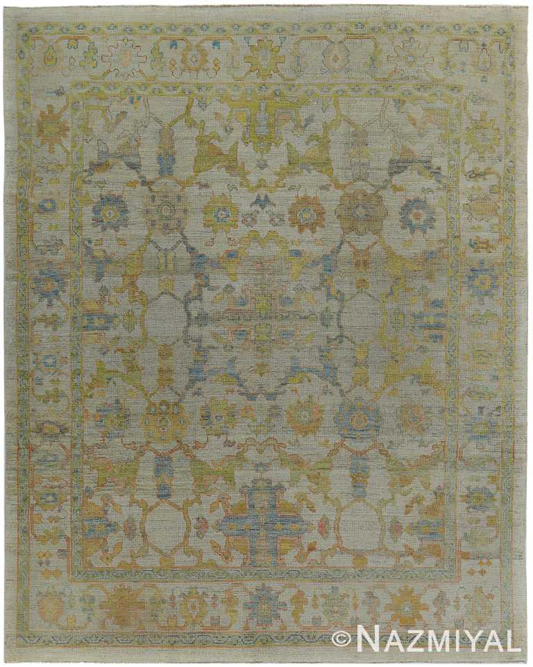 Modern Turkish Oushak Room Size Rug 60401 by Nazmiyal NYC