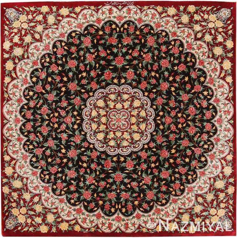 Small Vintage Persian Silk Qum Rug 70780 by Nazmiyal NYC
