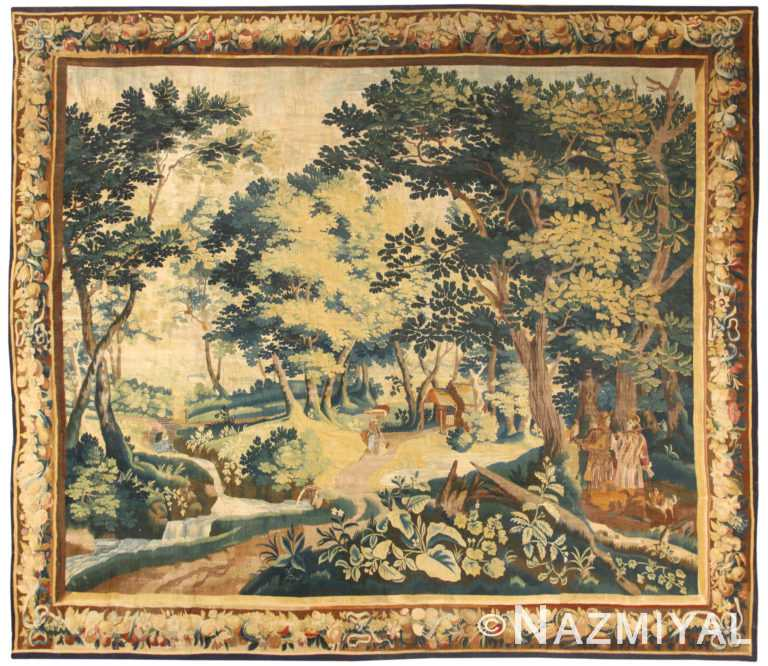 17th Century Antique Belgium Tapestry 50157 by Nazmiyal NYC