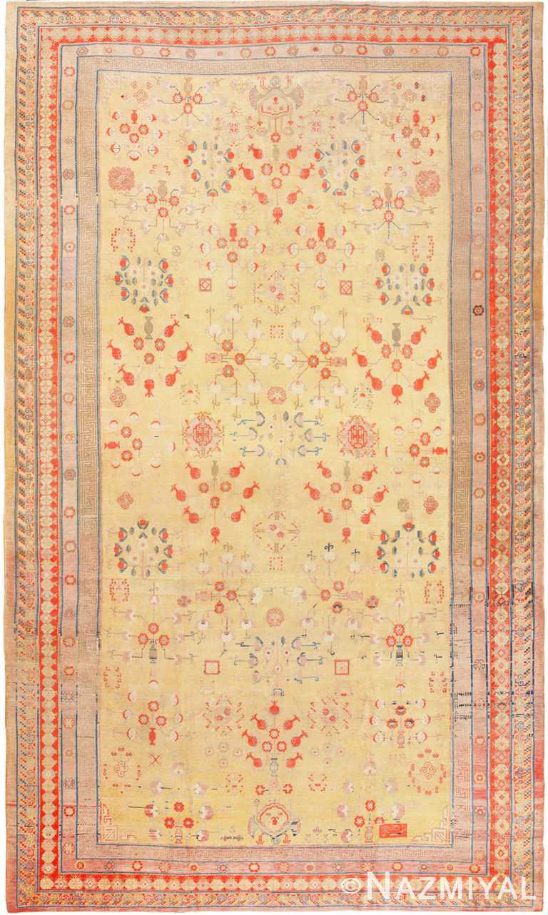 Antique Oversize Samarkand Pomegranate Design Khotan Rug 50200 by Nazmiyal NYC