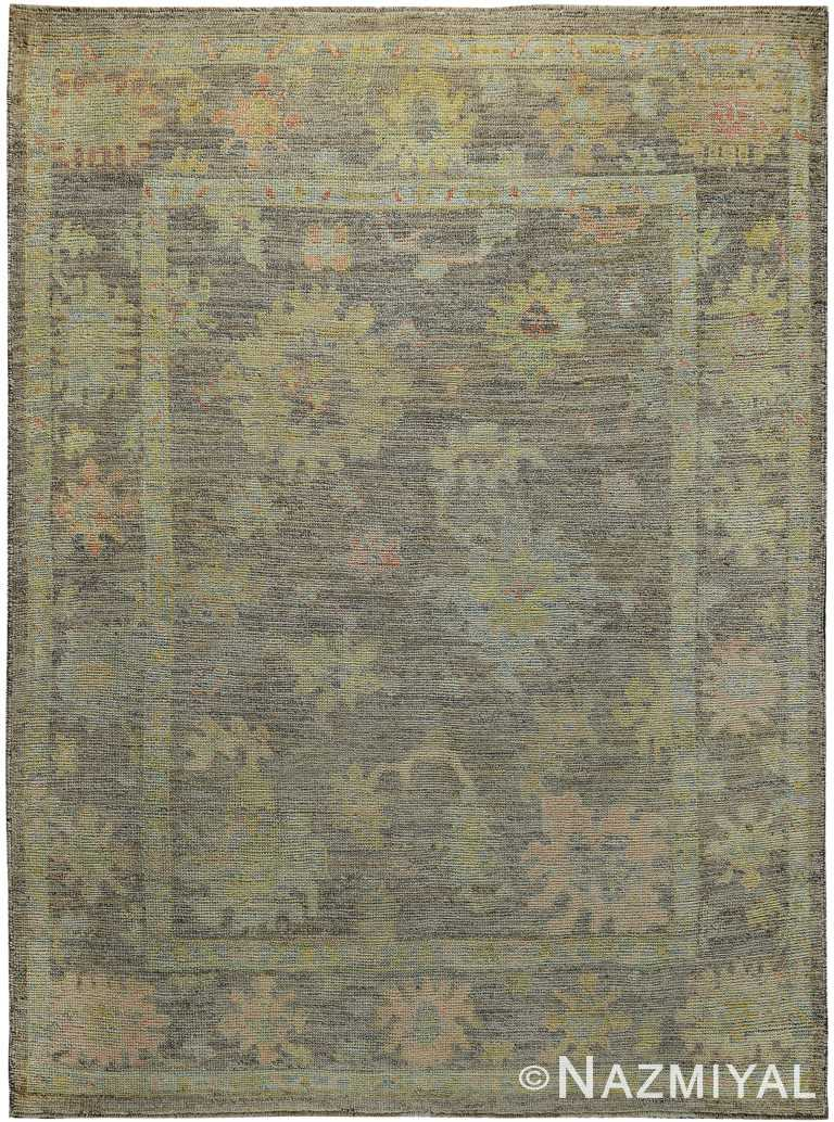 Small Size Modern Turkish Oushak Area Rug 60421 by Nazmiyal NYC