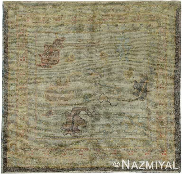 Small Square Modern Turkish Oushak Rug 60423 by Nazmiyal NYC