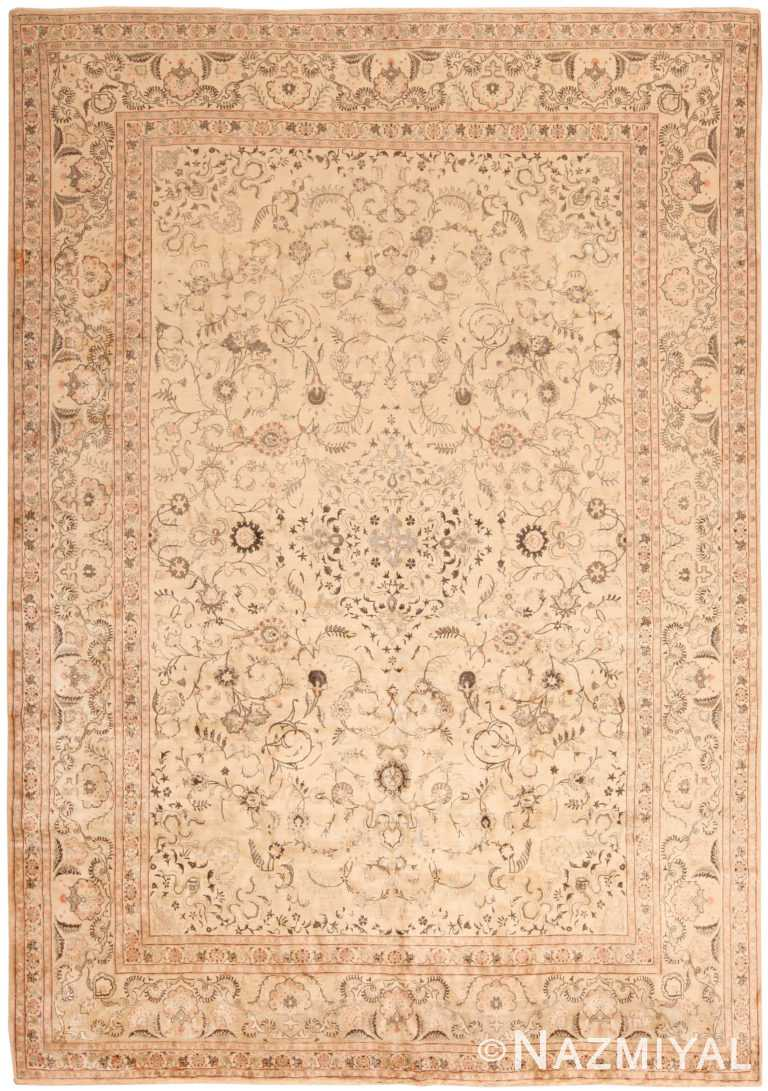 Vintage Persian Kashan Floral Area Rug 50528 by Nazmiyal NYC