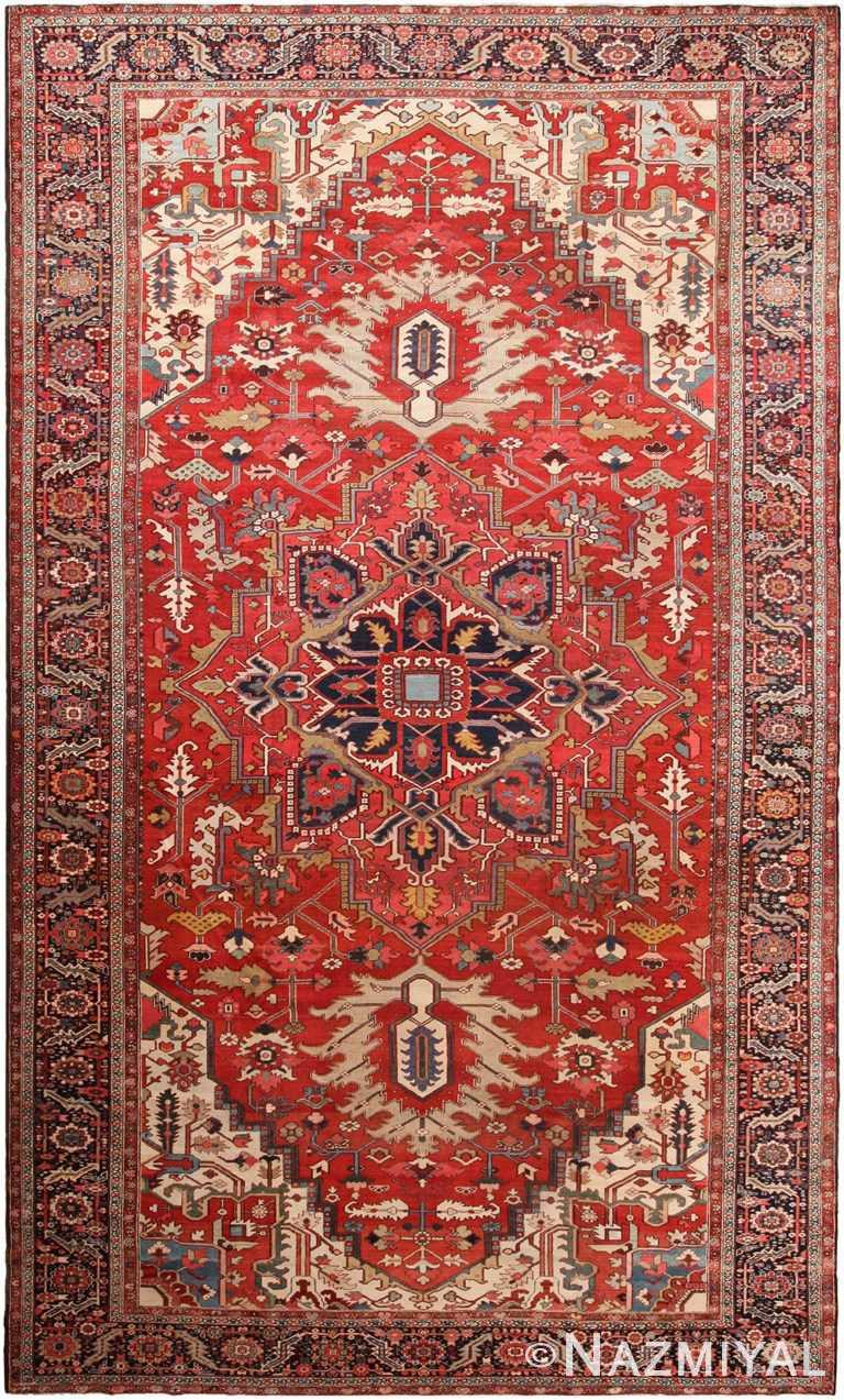 Large Antique Persian Heriz Rug 70648 by Nazmiyal NYC