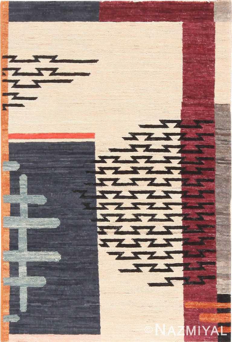 Modern Custom Art Deco Design Rug Sample #60549 by Nazmiyal Antique Rugs