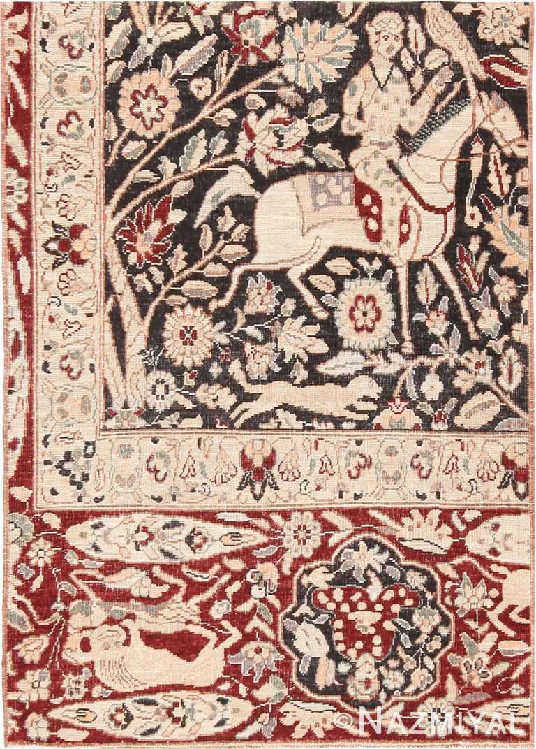 Modern Custom Persian Kerman Hunting Rug Sample #60534 by Nazmiyal Antique Rugs