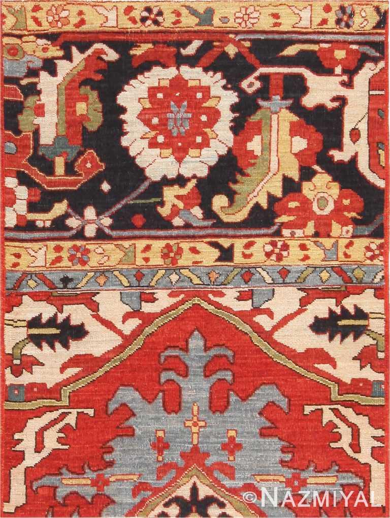 Modern Custom Persian Serapi Heriz Rug Sample #60541 by Nazmiyal Antique Rugs