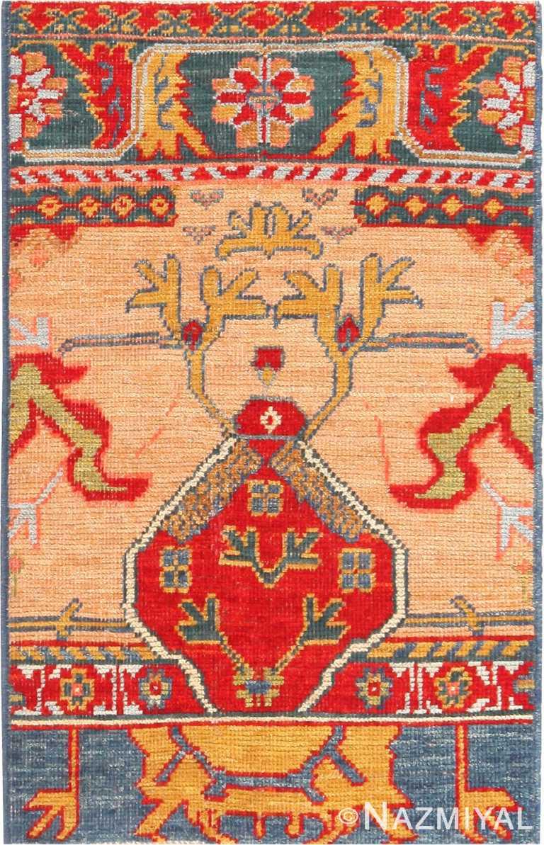 Tribal Modern Custom Turkish Oushak Rug Sample #60540 by Nazmiyal Antique Rugs