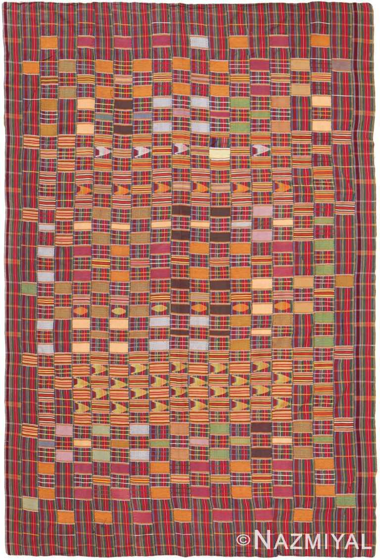 Antique African Ewe Kente Textile 70848 by Nazmiyal NYC