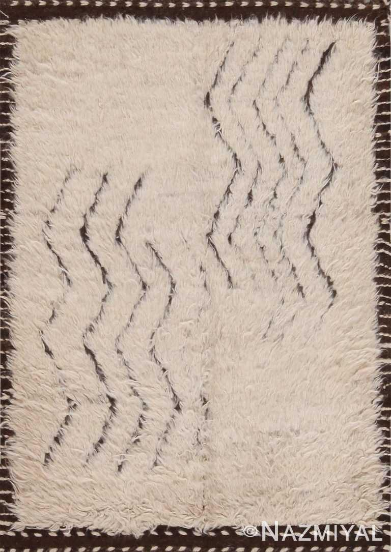 Chevron Design Modern Bespoke Bohemian Custom Rug Sample 60640 by Nazmiyal Antique Rugs