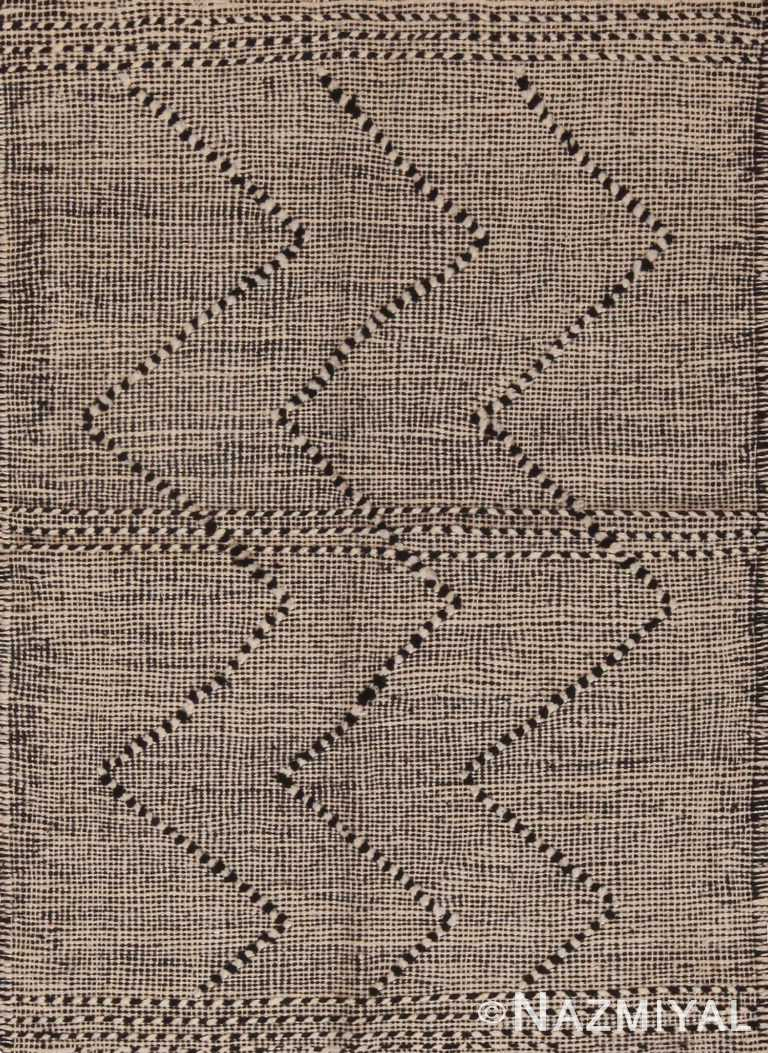 Custom Modern Moroccan Kilim Flat Weave Rug Sample 60630 by Nazmiyal Antique Rugs