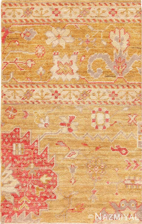 Custom Modern Turkish Oushak Area Rug Sample 60591 by Nazmiyal Antique Rugs