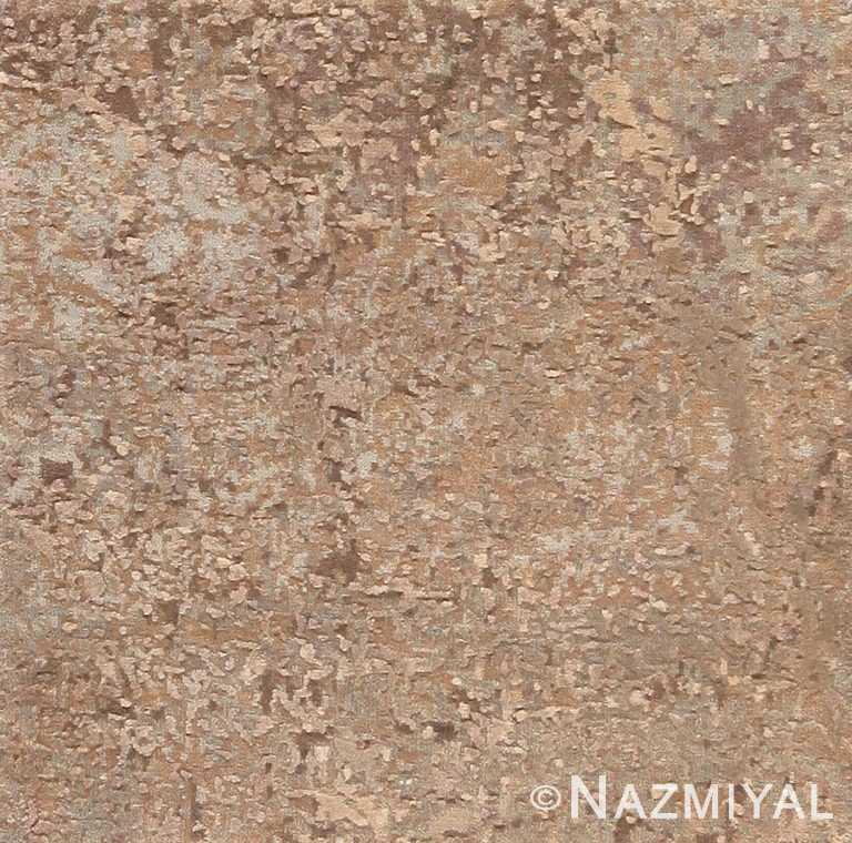 Custom Neutral Color Modern Area Rug Sample 60607 by Nazmiyal Antique Rugs