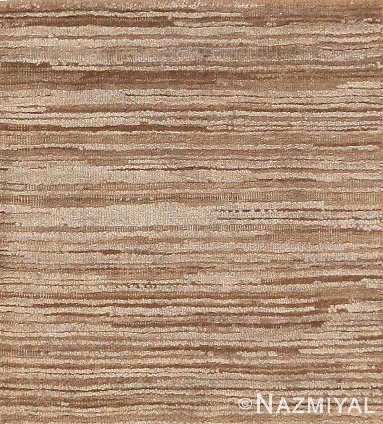 Earth Tone Custom Textured Silk And Wool Area Rug Sample 60612 by Nazmiyal Antique Rugs