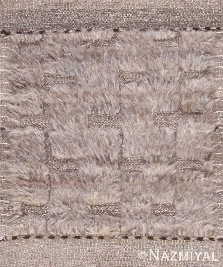 Gray Modern Boho Chic Custom Area Rug Sample 60628 by Nazmiyal Antique Rugs