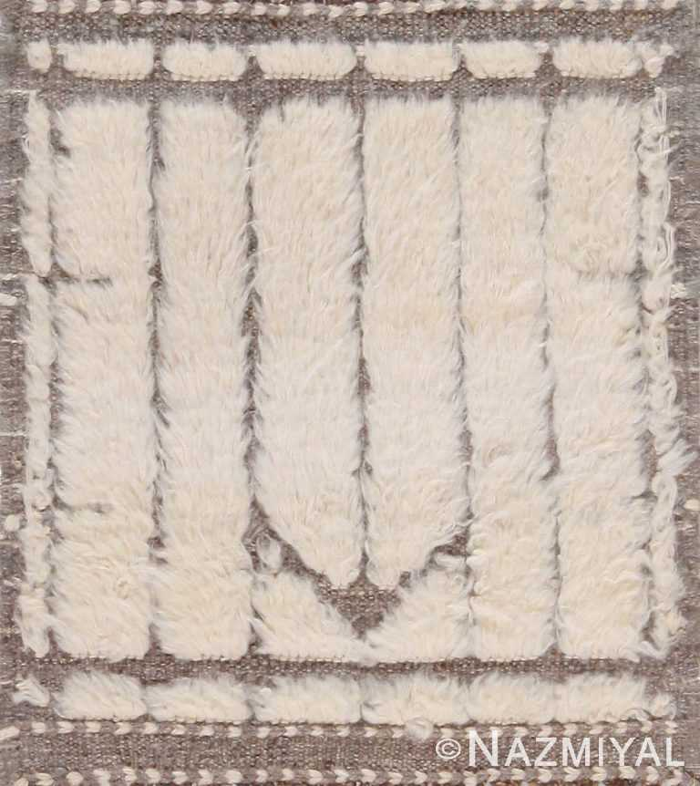 High Low Wool Pile Custom Bespoke Modern Bohemian Rug Sample 60647 by Nazmiyal Antique Rugs