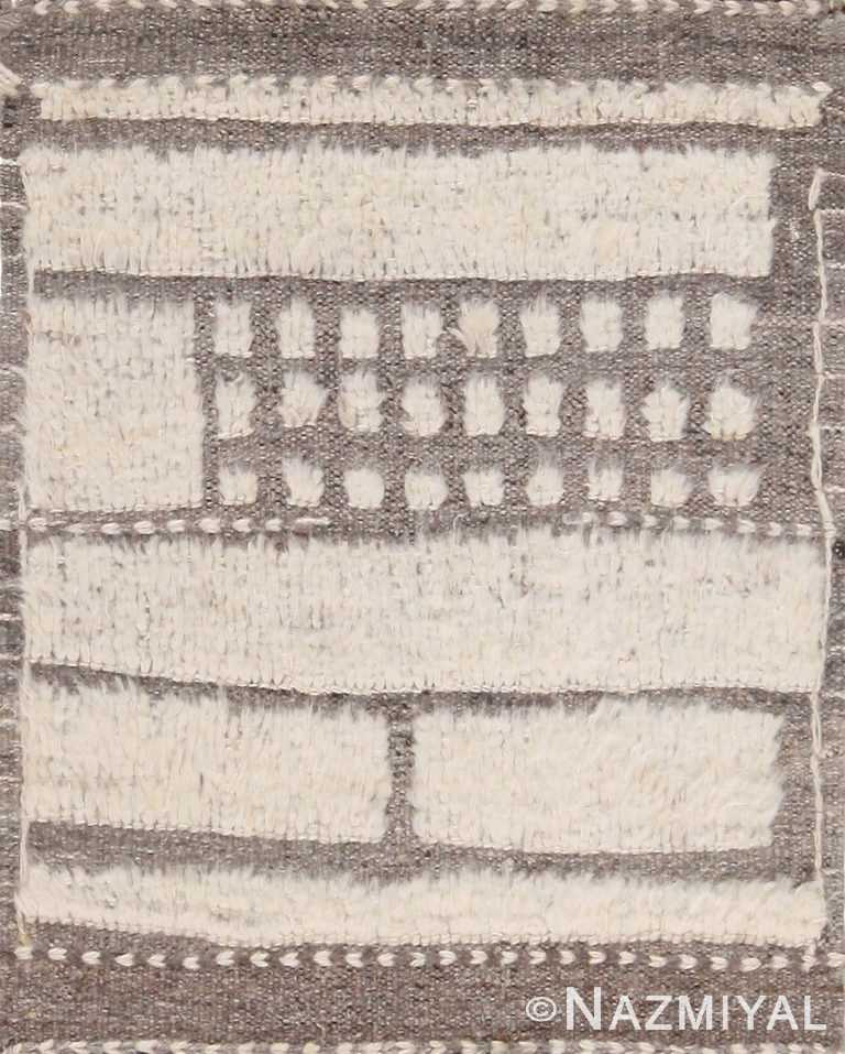 High Low Wool Pile Modern Artistic Custom Bohemian Rug Sample 60646 by Nazmiyal Antique Rugs