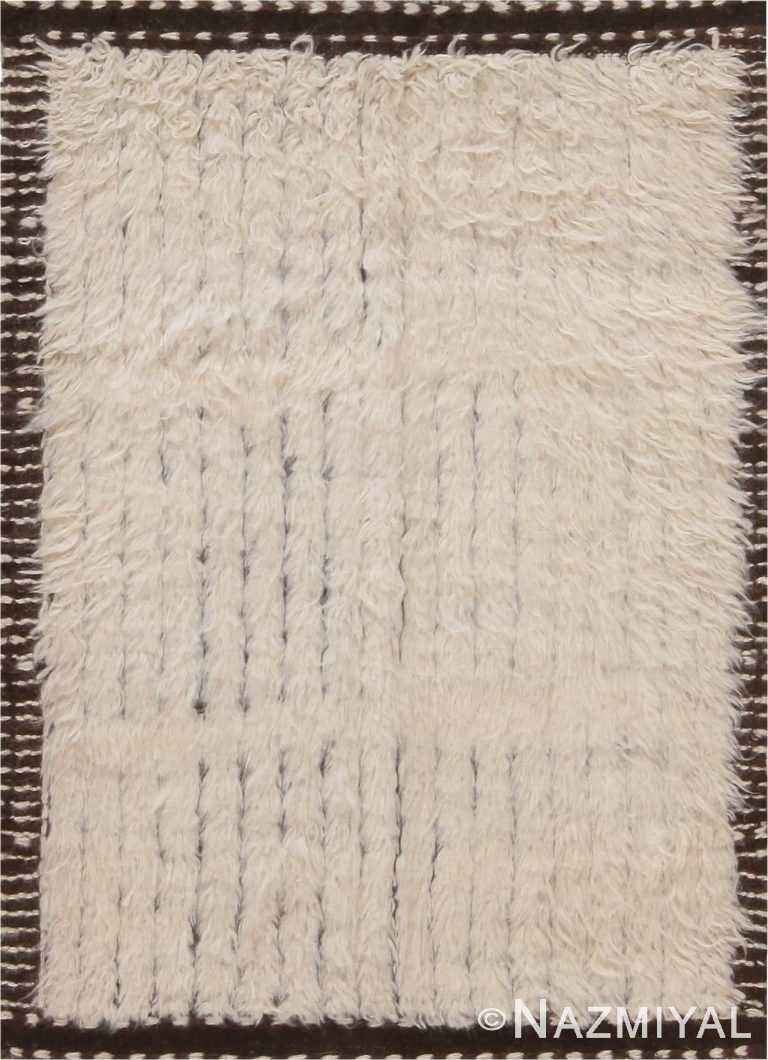 Ivory Bespoke Custom Bohemian Rug Sample 60644 by Nazmiyal Antique Rugs