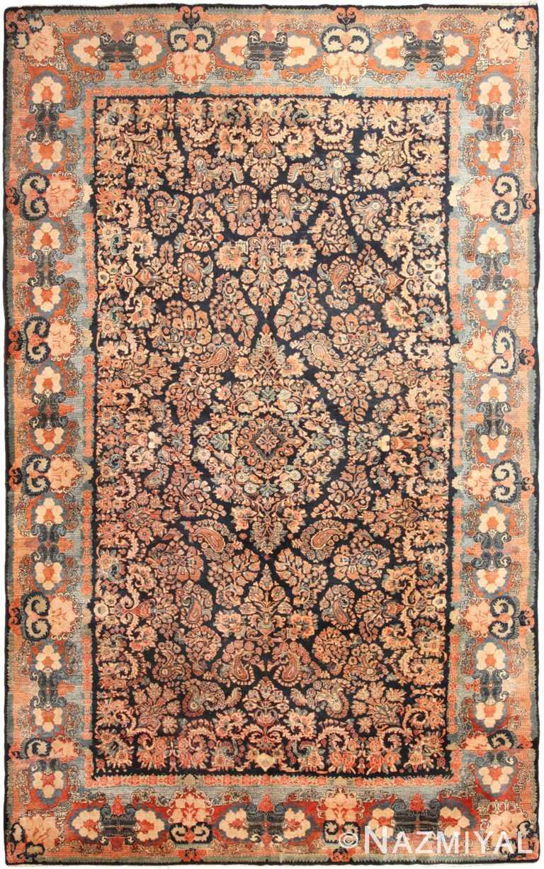 Large Floral Antique Persian Sarouk Rug 70814 by Nazmiyal NYC