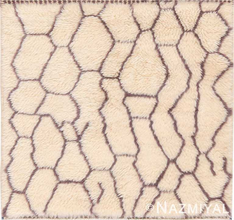 Modern Custom Beni Ourain Moroccan Rug Sample 60617 by Nazmiyal Antique Rugs