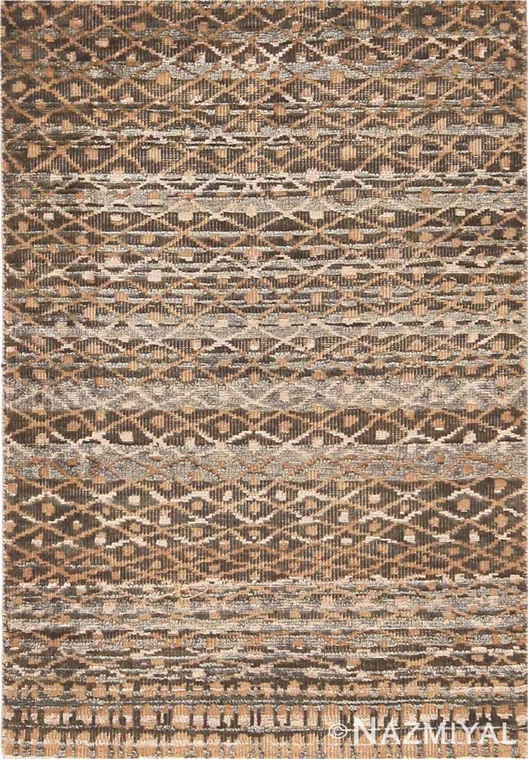 Modern Custom Moroccan Rug Sample 60592 by Nazmiyal Antique Rugs