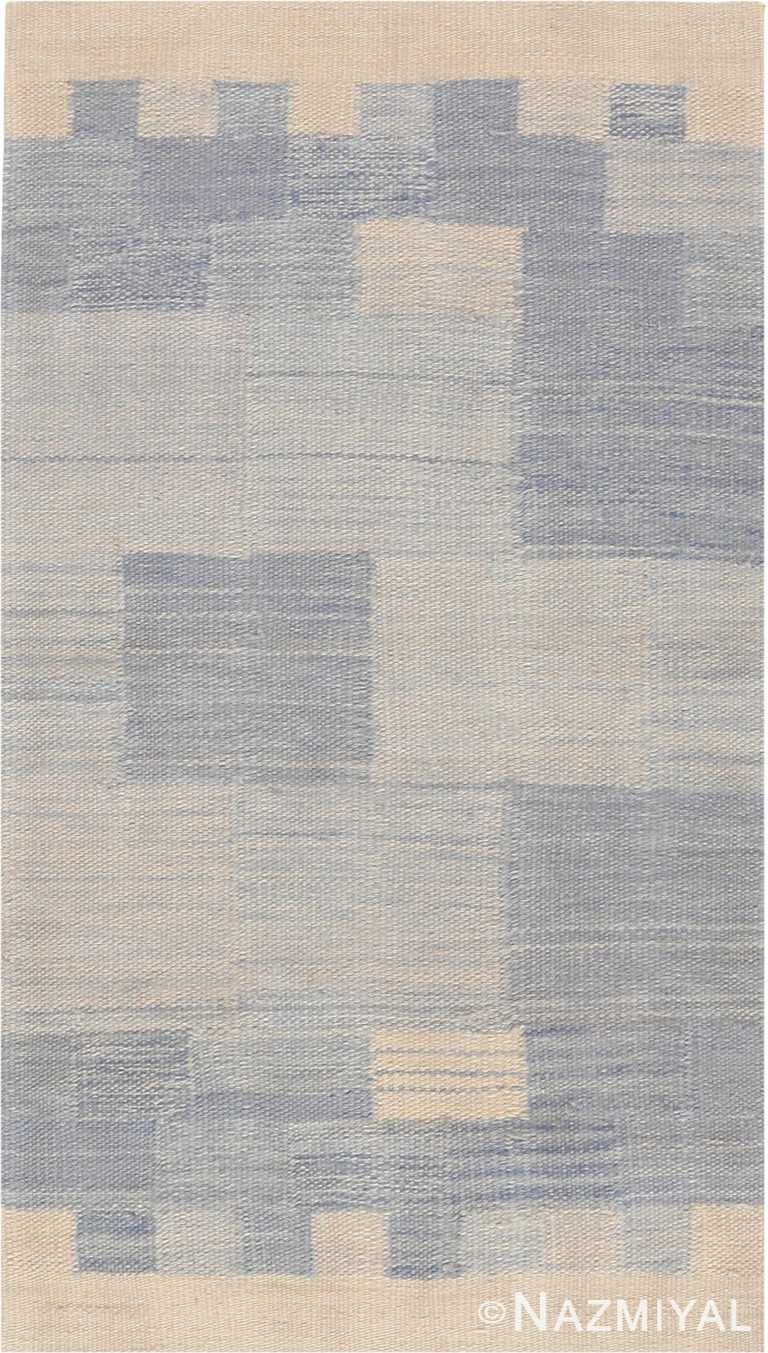 Modern Custom Swedish Kilim Rug Sample 49053 by Nazmiyal Antique Rugs