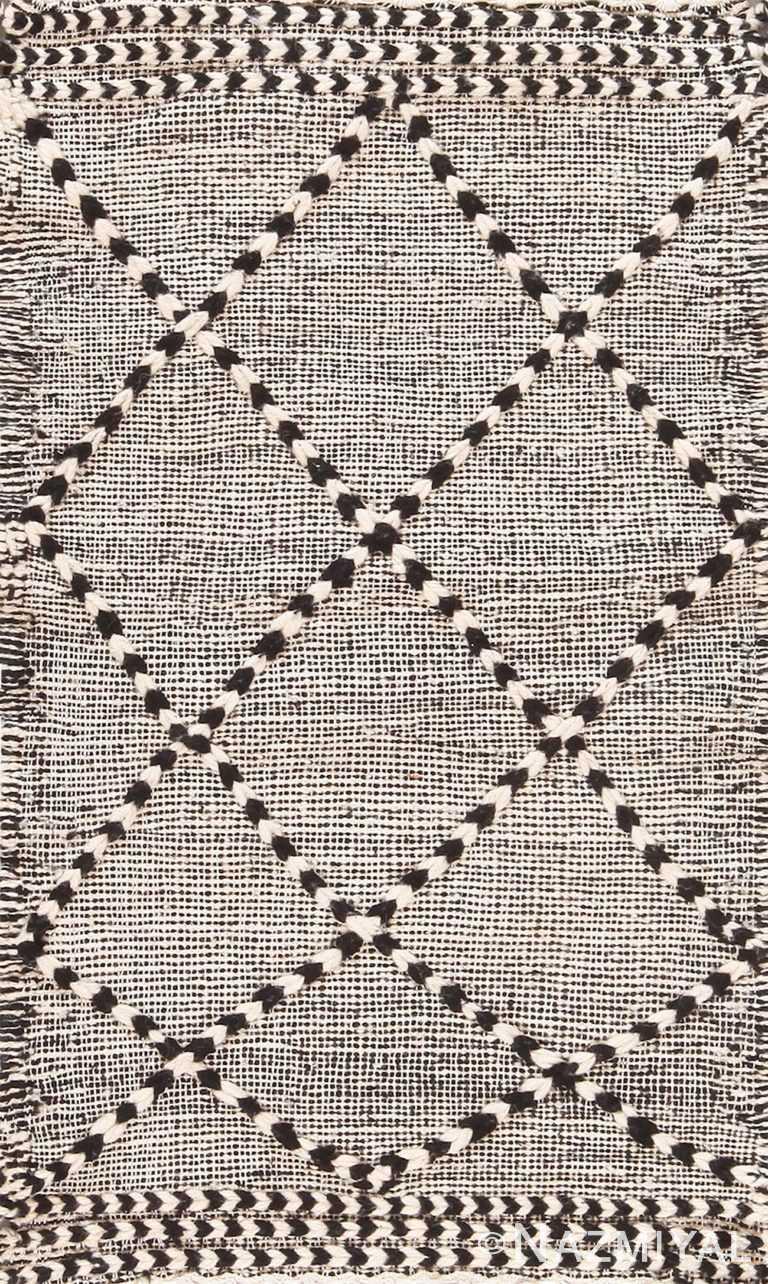 Modern Flat Woven Bespoke Custom Moroccan Kilim Rug Sample 60655 by Nazmiyal Antique Rugs