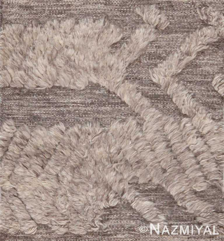Modern Grey High Low Pile Bohemian Custom Area Rug Sample 60635 by Nazmiyal Antique Rugs
